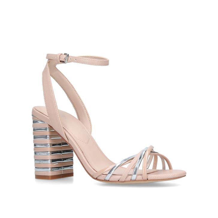 Taledia Pink Metallic Block Heel Sandals By Aldo