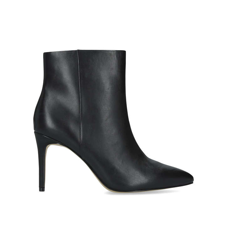 7a171103e6 Weima Black Leather Ankle Boots By Aldo