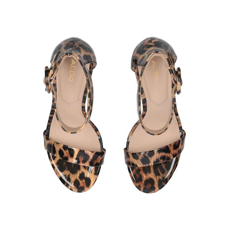 dfd06e7a0f3 Yenalia Leopard Print Strappy Heeled Sandals By Aldo