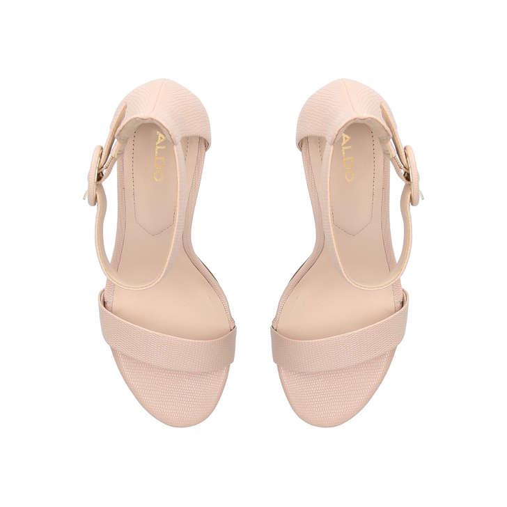 6755e96681a Yenalia Nude Strappy Heeled Sandals By Aldo
