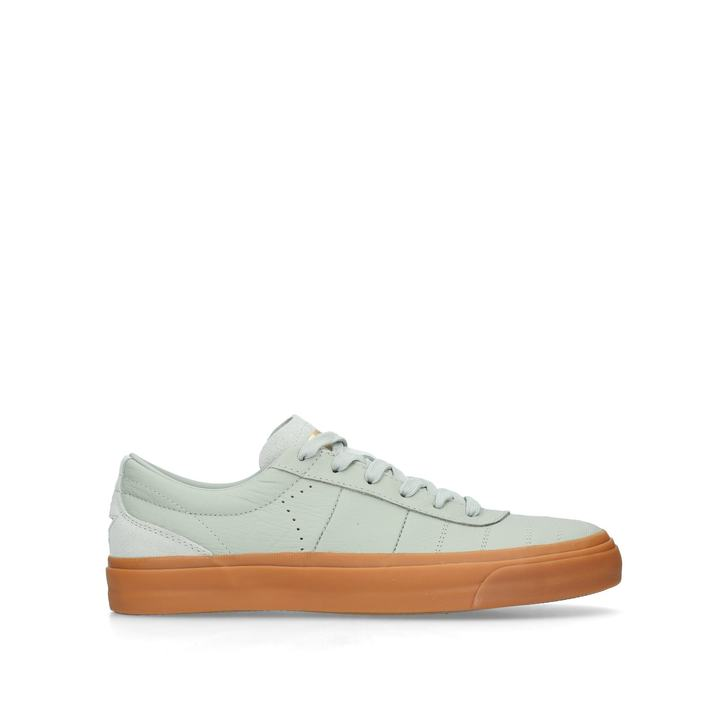 8ed0eaaf816b One Star Cc Lo Green Leather Low Top Trainers By Converse