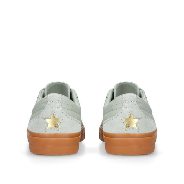 16988550a3ef28 One Star Cc Lo Green Leather Low Top Trainers By Converse