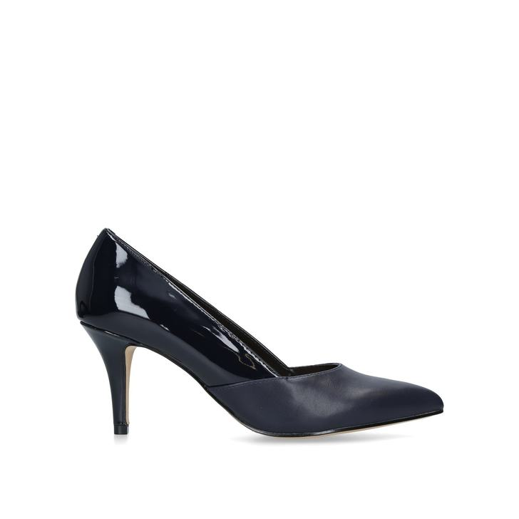 b9f0ae95c66 Fox Navy Mid Heel Court Shoes By Nine West