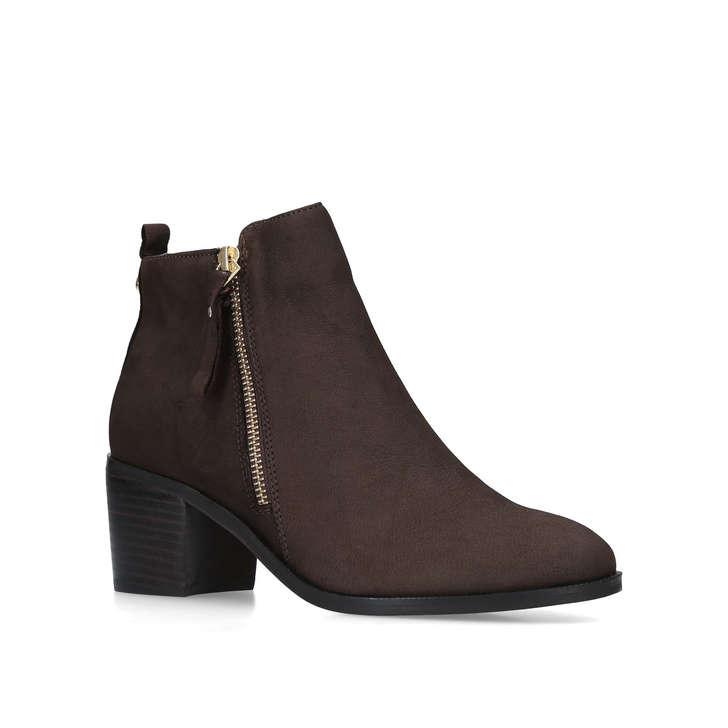 Charm Dark Braun Leder Ankle By Stiefel By Ankle Nine West   Kurt Geiger ffa1a1