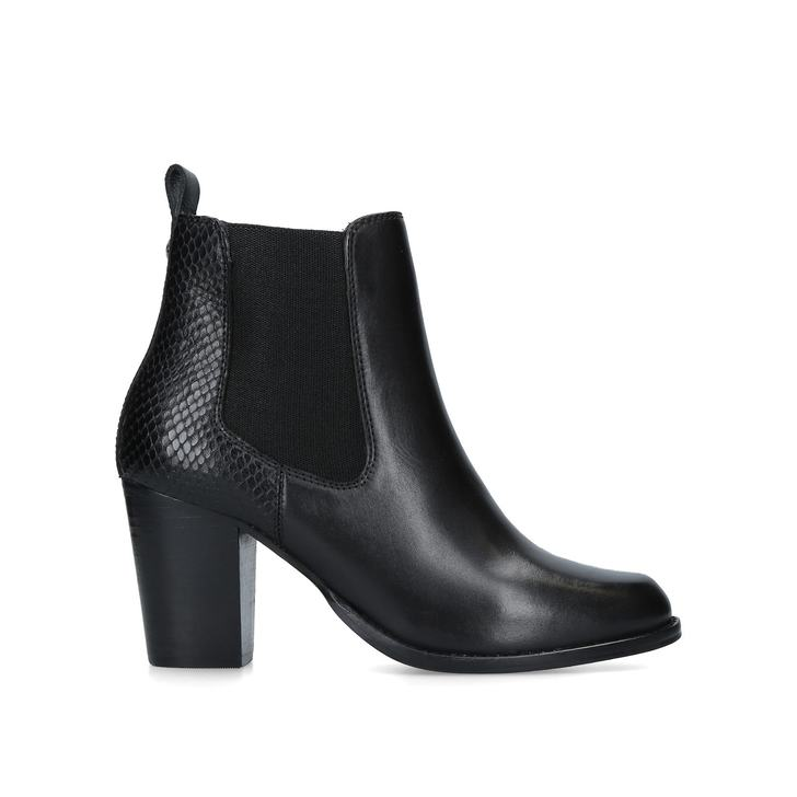 cf91035afff1 Sly Black Leather Ankle Boots By Carvela