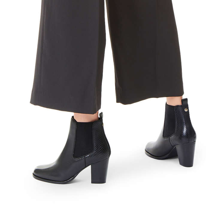 4ee953ab647c7 Sly Black Leather Ankle Boots By Carvela