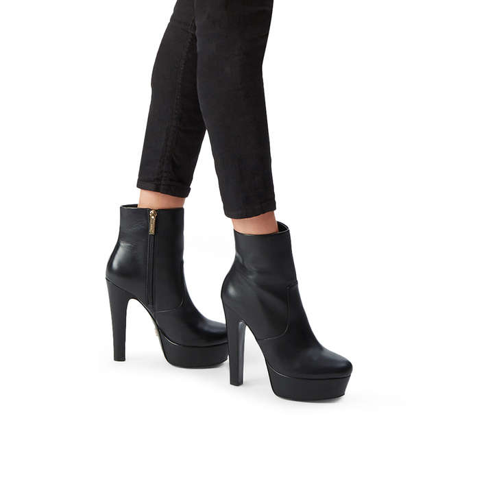 10be352cf53d Spear Black Leather Platform Ankle Boots By Kurt Geiger London ...