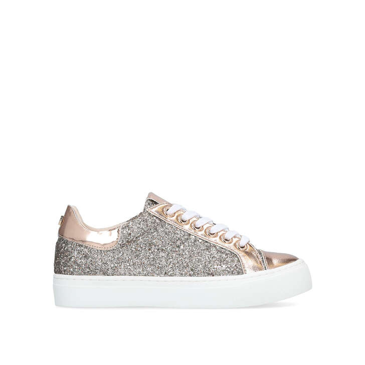 judd rose gold embellished low top trainers by carvela