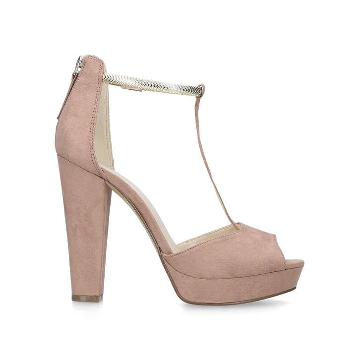 8bc40a129d6 Dewberry Nude Platform Heeled Sandals By Nine West