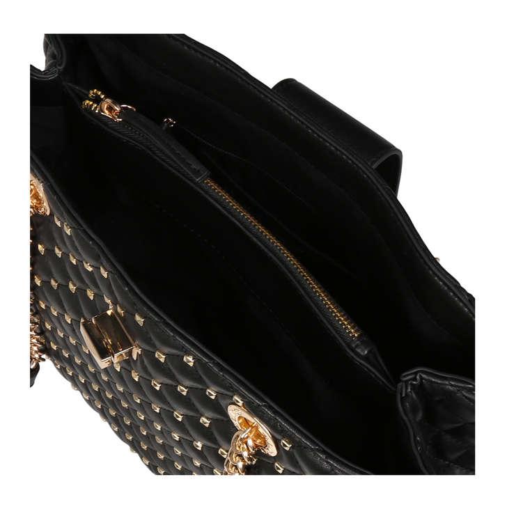 15d9b8280ca Elromyra Black Studded Tote Bag By Aldo