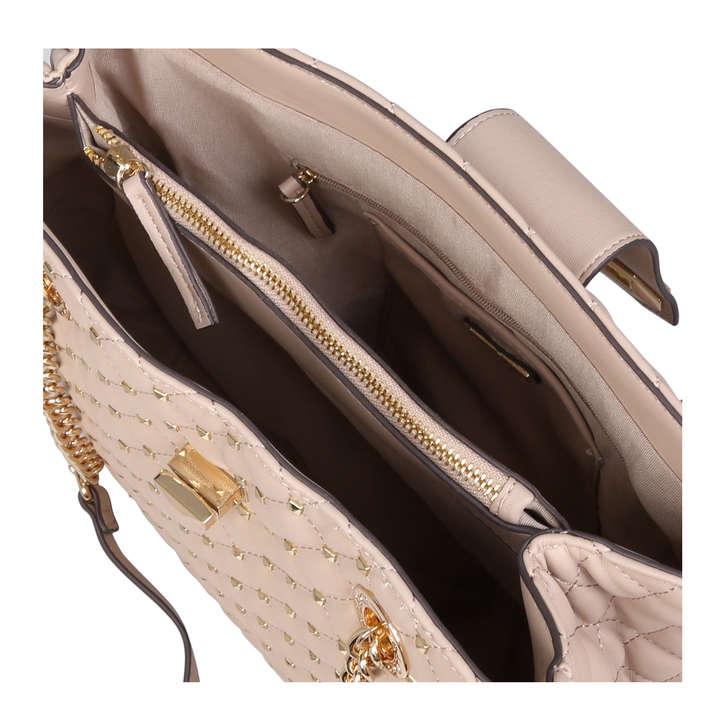 e990e8ce8ff Elromyra Beige Studded Tote Bag By Aldo