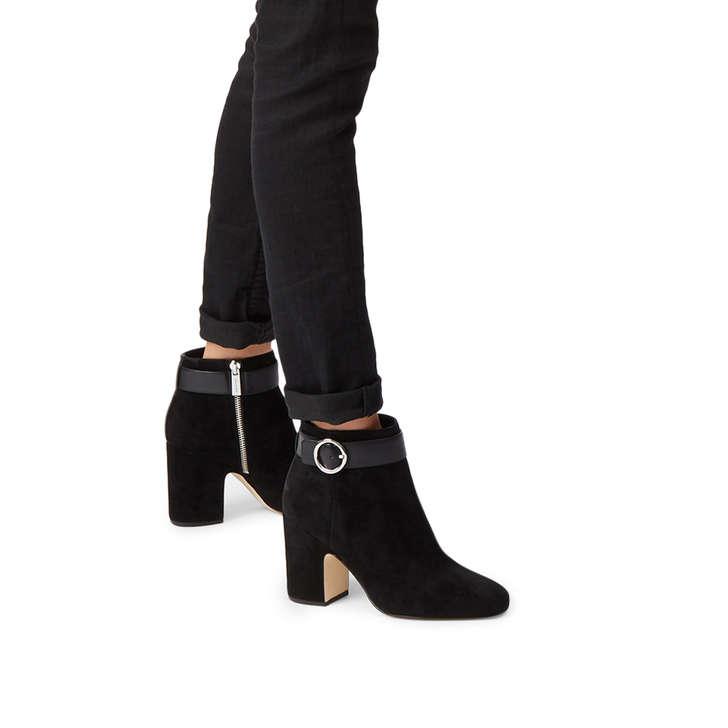 a8e94dab035c5 Alana Bootie Black Suede Ankle Boots By Michael Michael Kors