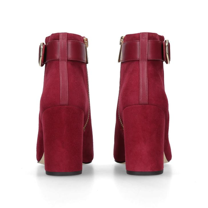 a32f5bd2be9e7 Alana Bootie Red Suede Ankle Boots By Michael Michael Kors