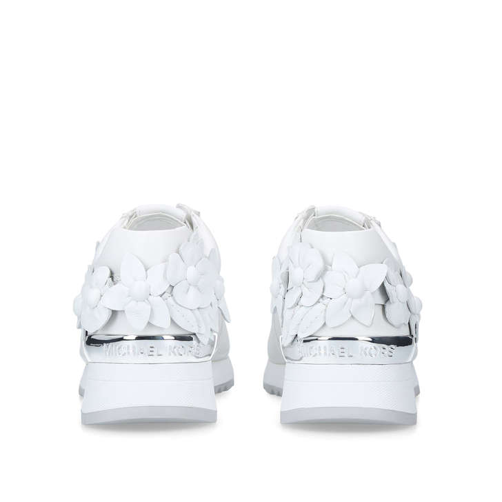 85bc538e70c0 Allie Floral Trainer White Leather Floral Trainers By Michael Michael Kors