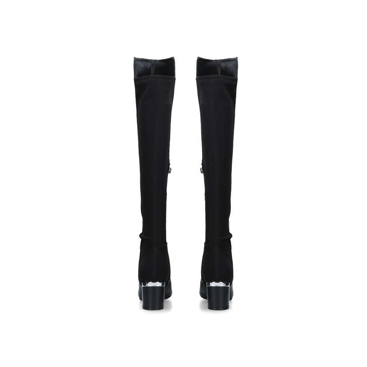 3a374f437f5 Cora Black Leather Over The Knee Boots By DKNY