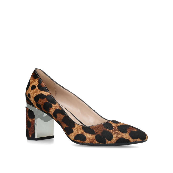 6921a30a0247 Elie Leopard Print Mid Heel Court Shoes By DKNY