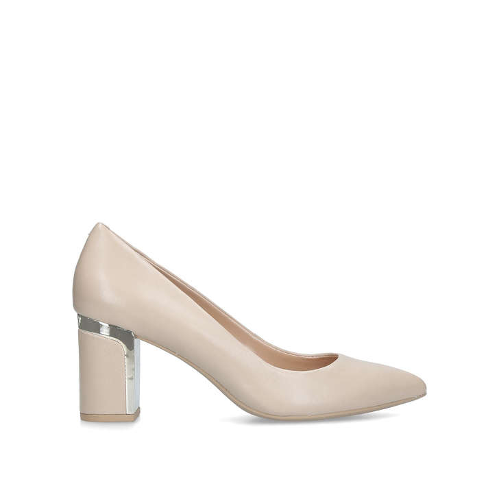 c9beccf9c66c Elie Nude Leather Mid Heel Court Shoes By DKNY