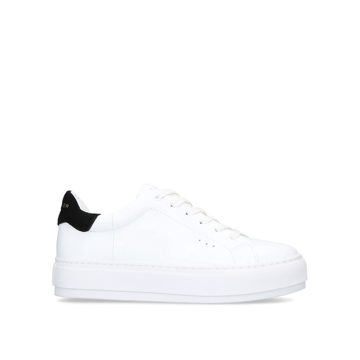 LANEY White Leather Chunky Sneakers by
