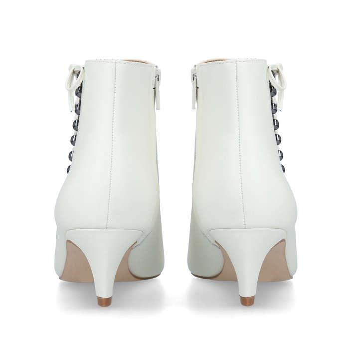 f689fb0f1d8e0 Rita Cream Leather Kitten Heel Ankle Boots By Kurt Geiger London | Kurt  Geiger