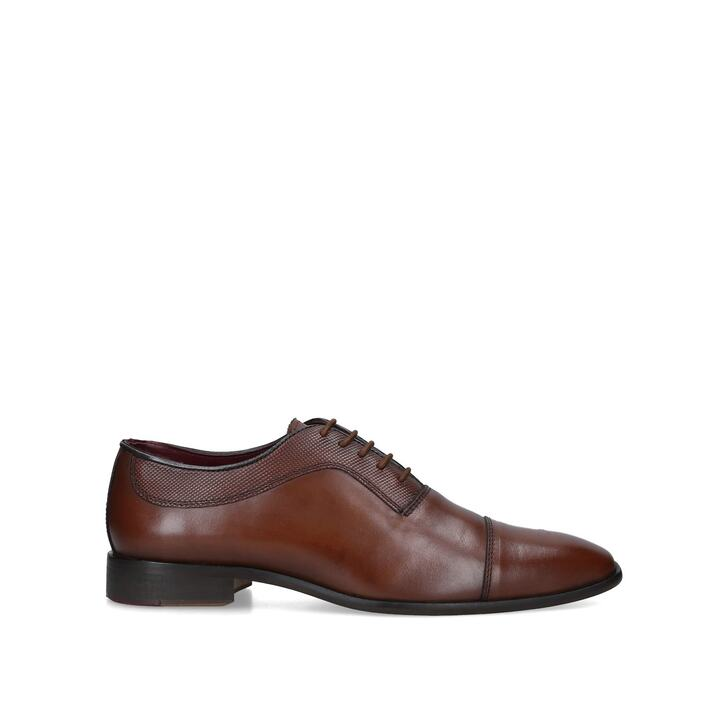 BANBURY Tan Leather Oxford Shoes by