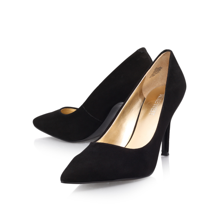 9b8f3556b62 Flax Black Mid Heel Courts Shoes By Nine West