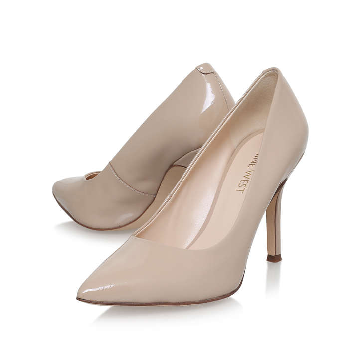 853dd6d18d6 FLAX Nude Mid Heel Court Shoes by NINE WEST