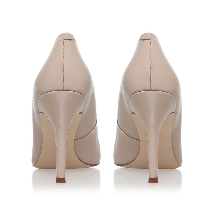 f21227201b Flax Nude Mid Heel Court Shoes By Nine West | Kurt Geiger