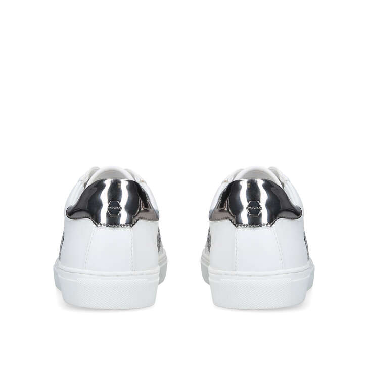 Jumping White Embellished Low Top