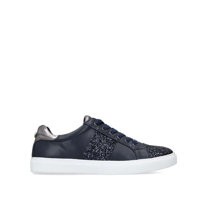 JUMPING Navy Embellished Low Top