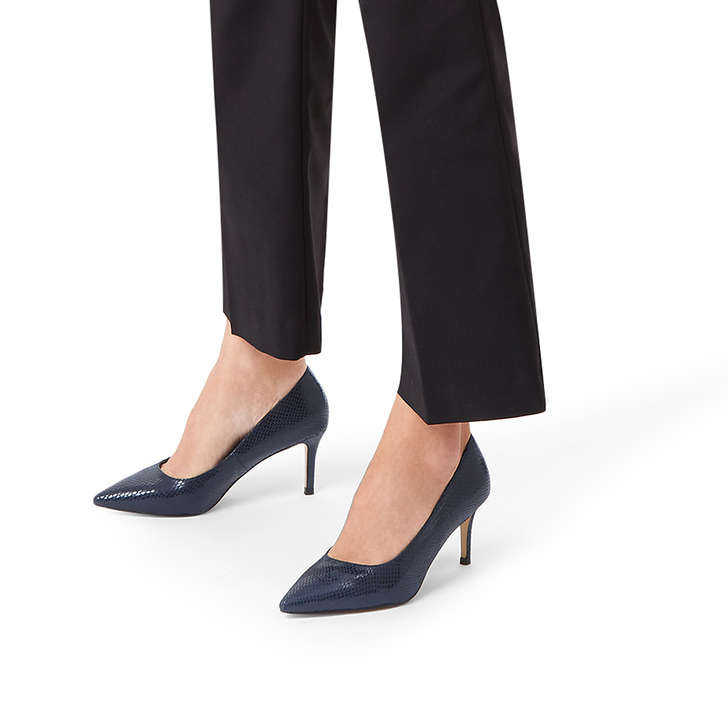 ed51e69ab46 KAREFUL Navy Kitten Heels by CARVELA