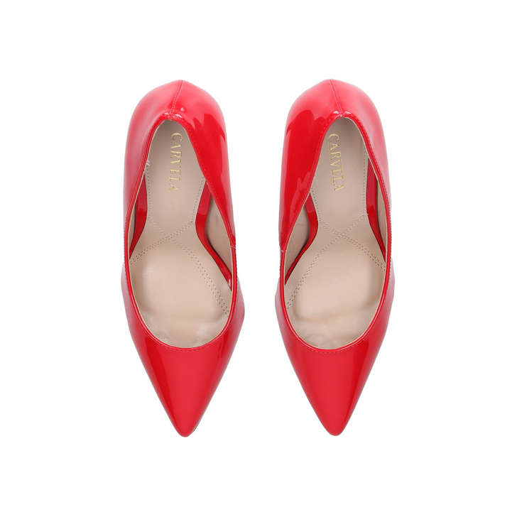 fcb410efe8ae Kareless Red Patent Court Shoes By Carvela