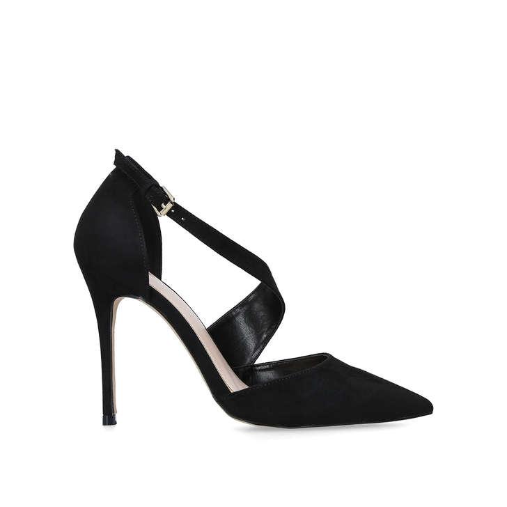 41dabd0191 Killer Black Suedette Stiletto Heel Court Shoes By Carvela | Kurt Geiger