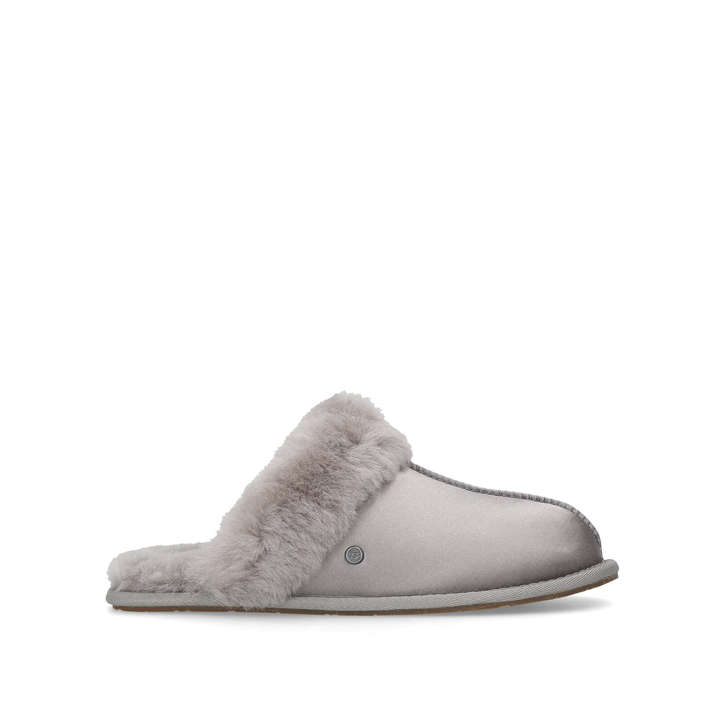 1193cd5aa Scuffette Satin Grey Slippers By UGG