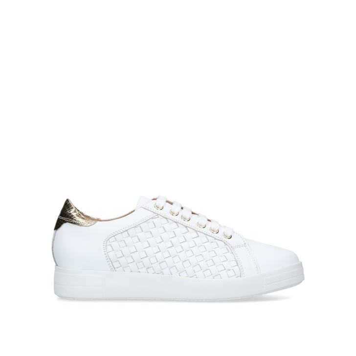 2f0a35d99822 Judge White Leather Low Top Trainers By Carvela