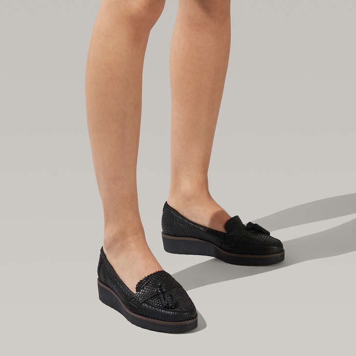 select for latest release date: fantastic savings Maestro Black Leather Tassel Loafers By Carvela | Kurt Geiger