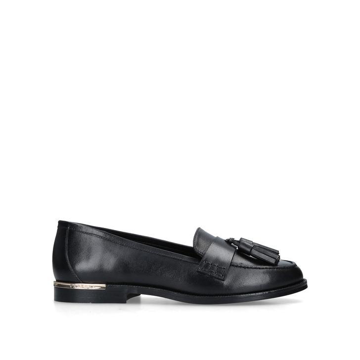 501d20d8613 Mercury Black Leather Tassel Loafers By Carvela   Kurt Geiger