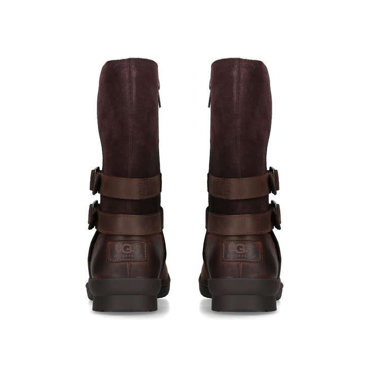 58efe8eef Lorna Boot Brown Leather Calf Boots By UGG | Kurt Geiger