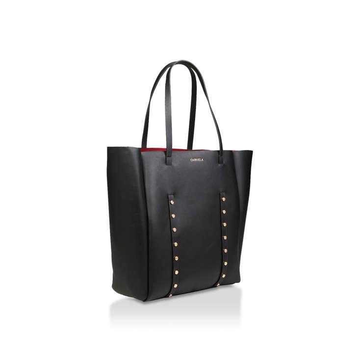 Claudia Stud Shopper Black Embellished Shopper Bag By Carvela  da9a30a30f7c7