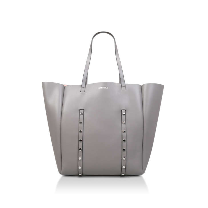 Claudia Stud Shopper Grey Shopper Bag By Carvela  08a9cf7cc8e62