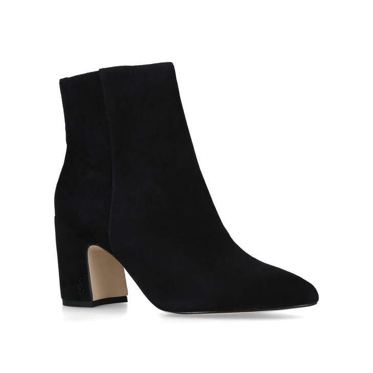 7cfe9e458d426e Hilty Ankle Boot Black Suede Block Heel Ankle Boots By Sam Edelman ...