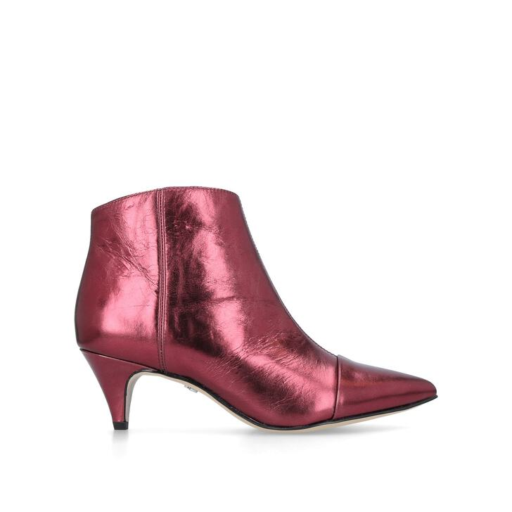 cf8c0e039f7f45 Kinzey Boot Red Leather Kitten Heel Ankle Boots By Sam Edelman ...