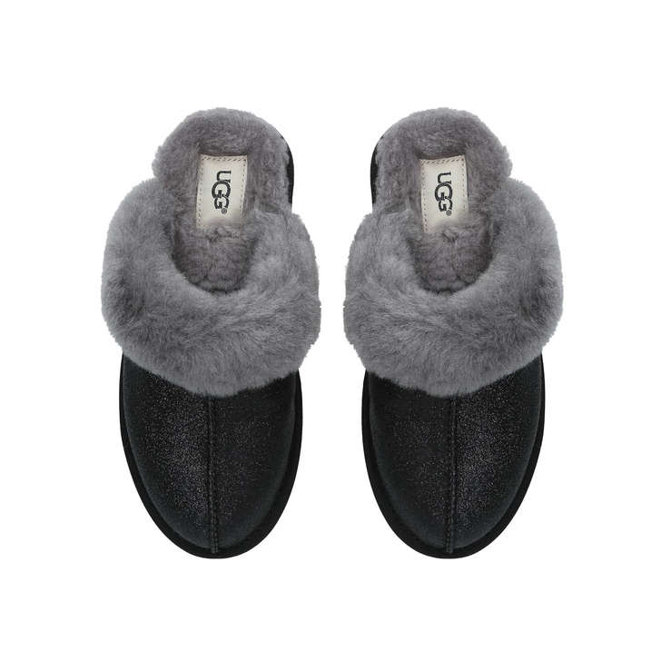980c310f00c Scuffette Ii Sparkle Metallic Black Slippers By UGG | Kurt Geiger