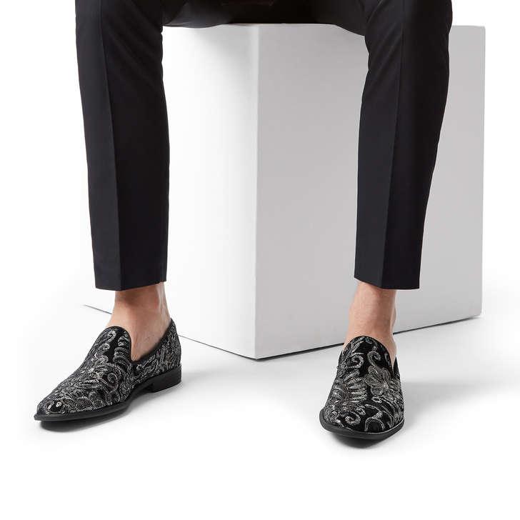 850ef21415f Albert Black Embellished Slip On Loafers By Kurt Geiger London ...