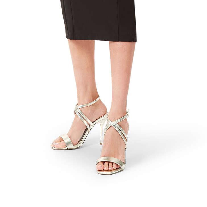 f71e330a6430 Goldi Gold Stiletto Heel Strappy Sandals By Carvela