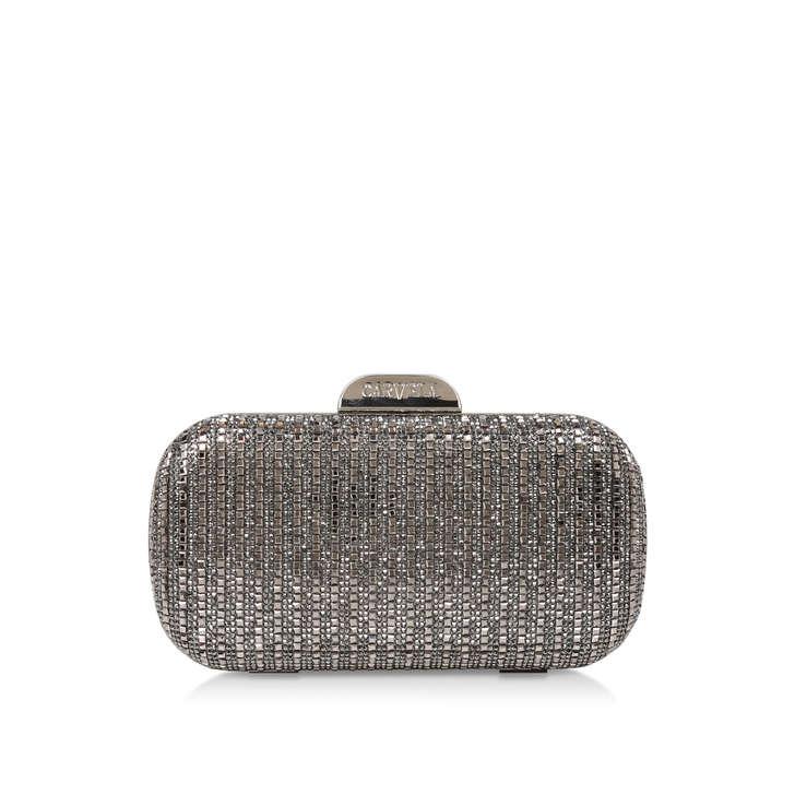 4348aad659 Gem Metallic Silver Clutch Bag By Carvela | Kurt Geiger