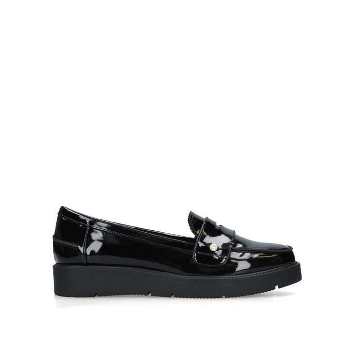 08c0a56f0c5 Nieve Black Patent Loafers By Miss KG