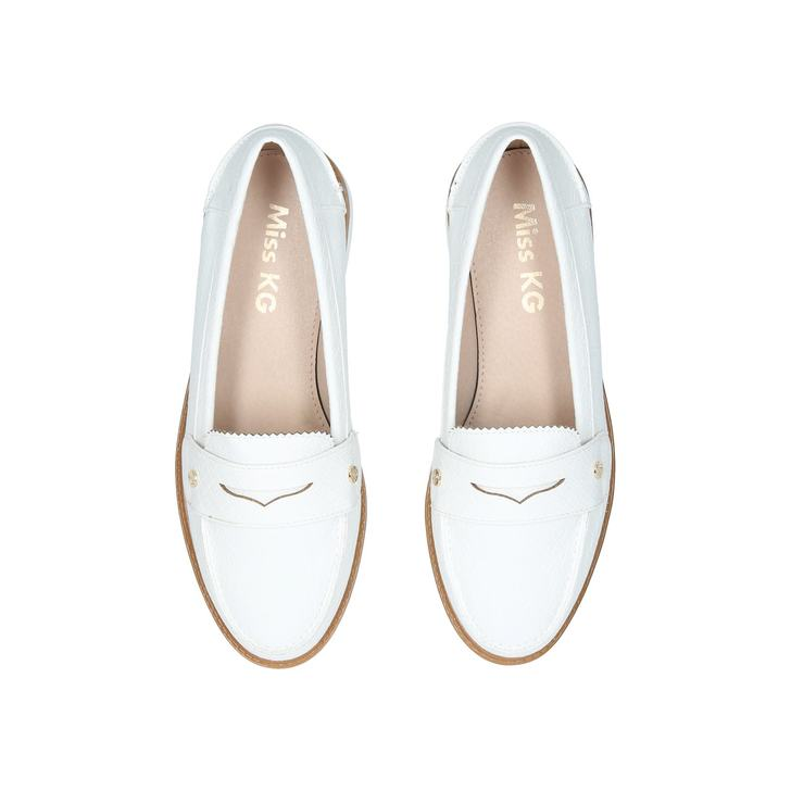 9f7b2d54e6770 Nieve White Pumped Up Loafers By Miss KG | Kurt Geiger