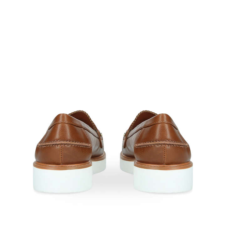 d4f3d9b11e32 Nieve Tan Pumped Up Loafers By Miss KG