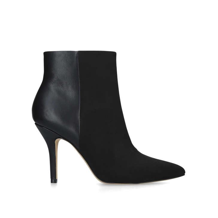 black ankle boots stiletto heel