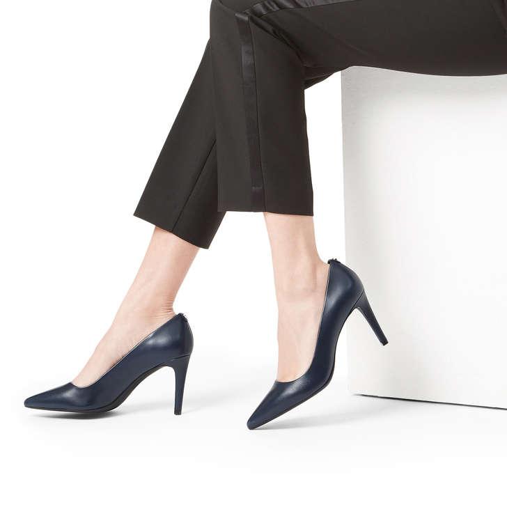 758d13deb Dorothy Flex Pump Navy Leather Court Shoes By Michael Michael Kors | Kurt  Geiger